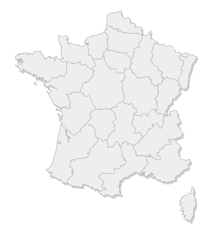 Carte des brasserie de France